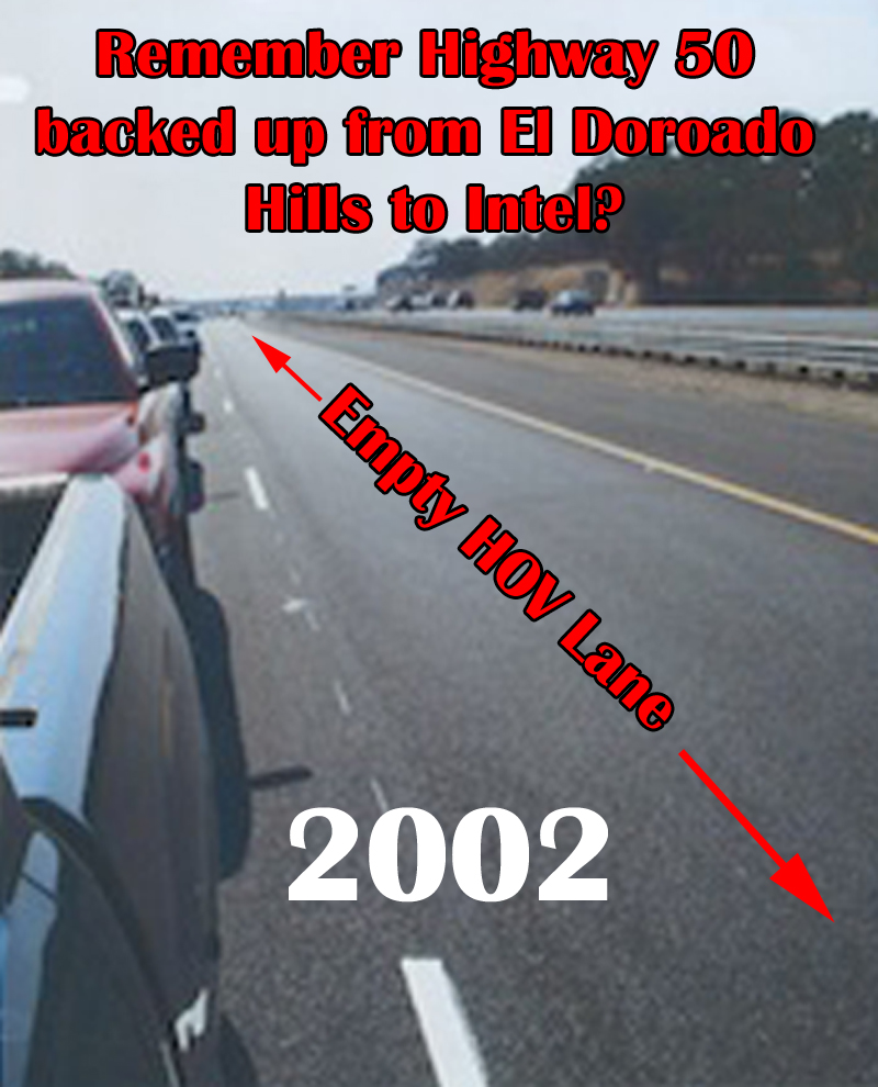 Empty HOV Lane 2002