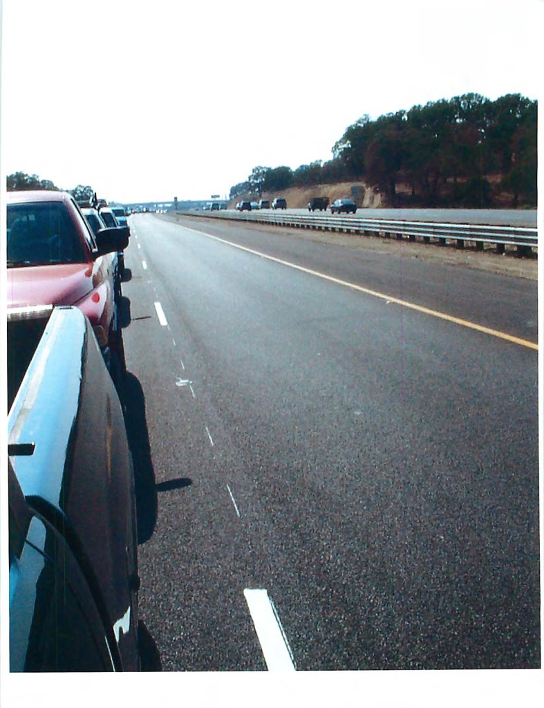 Picture of Hwy 50 Empty HOV Lane